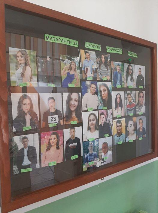 Матуранти за школску 2019/2020. годину